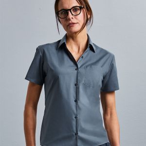 Russell Collection - Women's Short Sleeve Poly/Cotton Poplin Shirt - J935F