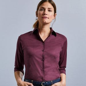 Russell Collection - Women's 3/4 Sleeve Easy Care Fitted Shirt - J946F