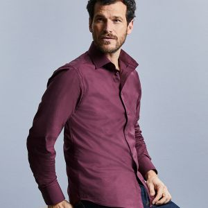 Russell Collection - Men's Long Sleeve Easy Care Fitted Shirt - J946M