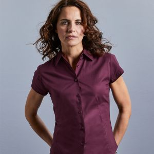 Russell Collection - Women's Short Sleeve Easy Care Fitted Shirt - J947F