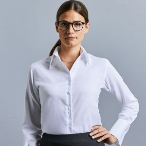 Russell Collection - Women's Long Sleeve Ultimate Non-Iron Shirt - J956F