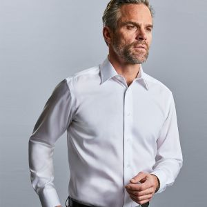Russell Collection - Men's Long Sleeve Tailored Ultimate Non-Iron Shirt - J958M