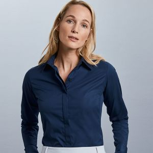 Russell Collection - Women's Long Sleeve Ultimate Stretch Shirt - J960F