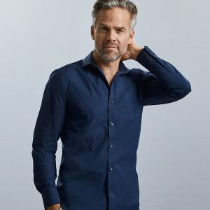Russell Collection - Men's Long Sleeve Ultimate Stretch Shirt - J960M