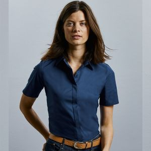 Russell Collection - Women's Short Sleeve Ultimate Stretch Shirt - J961F