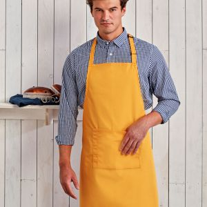 Premier - Colours Bib Apron with Pocket - PR154