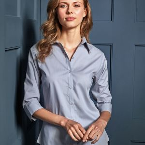 Premier - Ladies 3/4 Sleeve Poplin Shirt - PR305