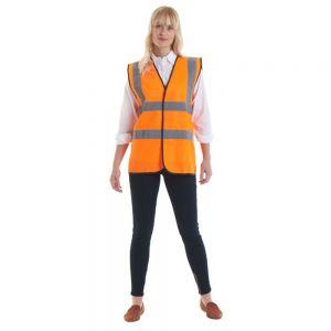Uneek - Sleeveless Hi-Vis Safety Waist Coat / Vest - UC801