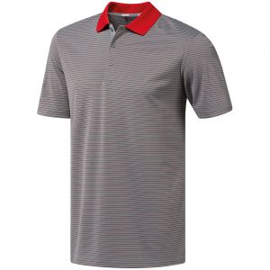 Adidas - Two-Colour Striped Polo Shirt - AD115