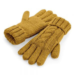 Beechfield - Cable Knit Melange Gloves - BB497