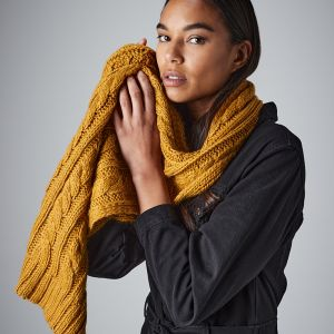 Beechfield - Cable Knit Melange Scarf - BB499