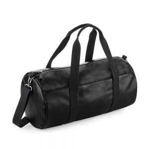 BagBase - Faux Leather Barrel Bag - BG258