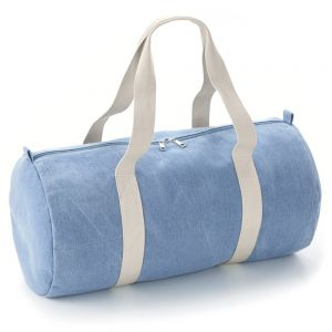 BagBase - Denim Barrel Bag - BG646