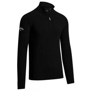 Callaway - Ribbed Quarter Zip Merino Sweater - CW075