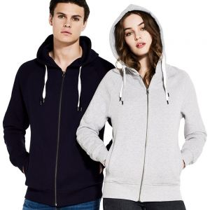 Earth Positive - Unisex Organic Zip-Up Hoodie - EP60Z