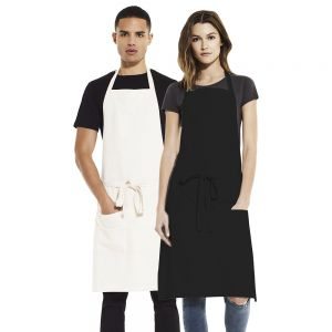 Earth Positive - Unisex Bib Apron With Pockets - EP77