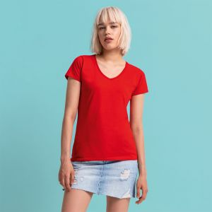 Fruit of the Loom - Ladies Iconic 150 V Neck T-Shirt - F61-444-0