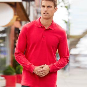 Gildan - Long Sleeve Premium Cotton Double Pique Polo Shirt - GD44