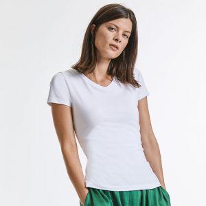 Russell - Ladies' Pure Organic V-Neck T-Shirt - J103F