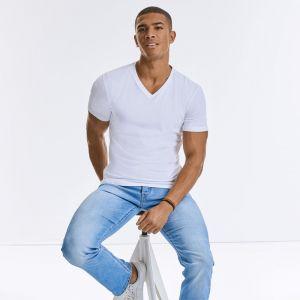 Russell - Men's Pure Organic V-Neck T-Shirt - J103M