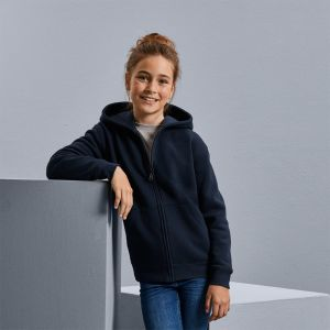 Russell - Kids Authentic Zipped Hood Sweatshirt - J266B