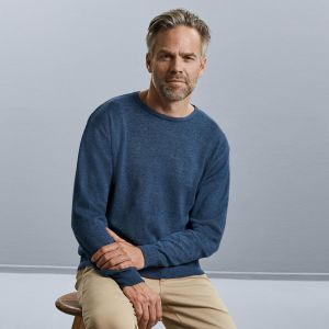 Russell Collection - Cotton Acrylic Crew Neck Sweater - J717M
