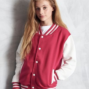 Just Hoods by AWDis - Kid's Varsity Jacket - JH043B
