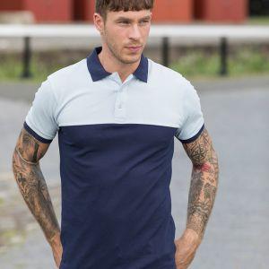 Just Ts & Polos by AWDis - Colour Block Piqué Polo Shirt - JP110