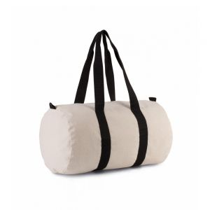 Kimood - Cotton Canvas Barrel Bag - KI0632