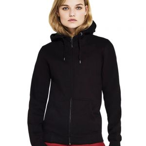 Continental - Women's High Neck Zip Up Hoody - N54Z