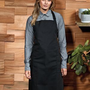 Premier - Recycled and Organic Fairtrade Certified Bib Apron - PR120