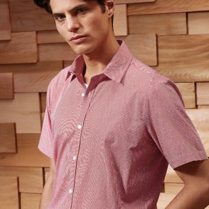 Premier - Gingham Short Sleeve Shirt - PR221