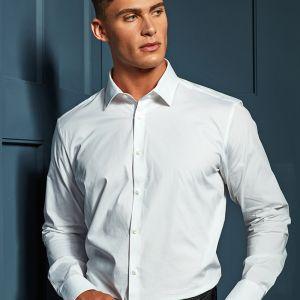 Premier - Long Sleeve Stretch Fit Poplin Shirt - PR244
