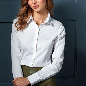 Premier - Ladies Long Sleeve Stretch Fit Poplin Shirt - PR344