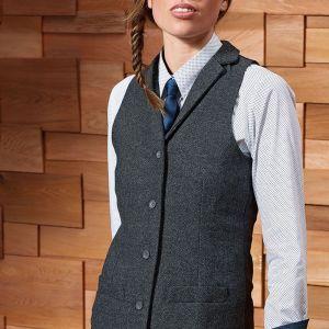 Premier - Ladies Herringbone Waistcoat - PR626