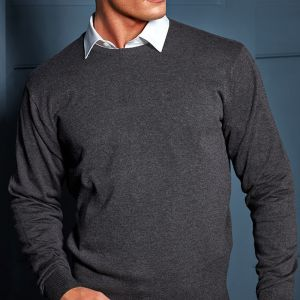 Premier - Cotton Rich Crew Neck Sweater - PR692