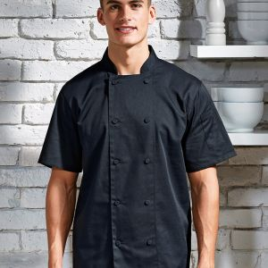 Premier - Coolchecker Short Sleeve Chef's Jacket - PR902