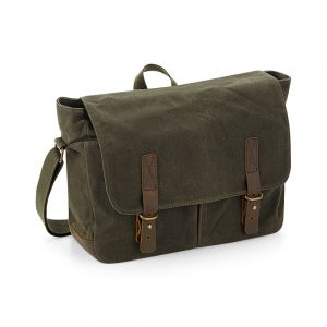 Quadra - Heritage Waxed Canvas Messenger - QD653