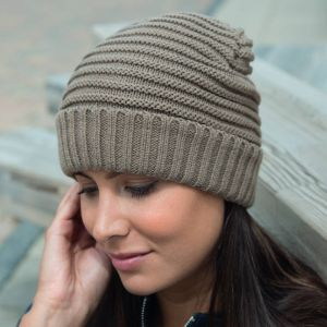Result - Braided Fleece Lined Hat - RC376