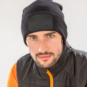 Result - Genuine Recycled Double Knit Printers Beanie - RC927