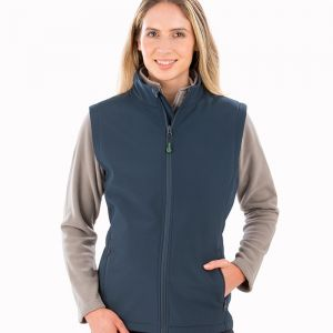 Result - Genuine Recycled Ladies Printable Soft Shell Bodywarmer - RS902F