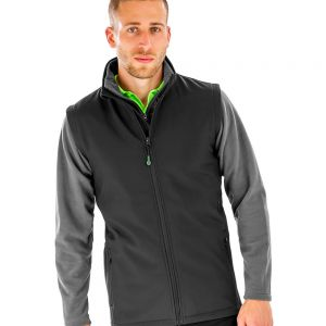 Result - Genuine Recycled Mens Printable Soft Shell Bodywarmer - RS902M