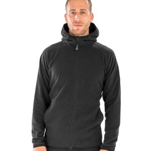 Result - Genuine Recycled Hooded Micro Fleece Jacket - RS906