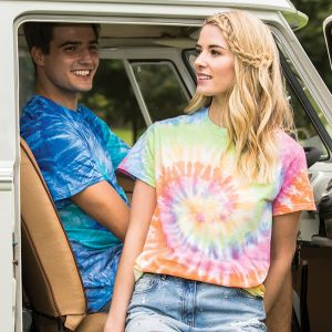 Colortone - Tie-Dye Short Sleeve T-Shirt - TD02M