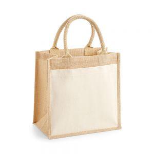 Westford Mill - Pocket Jute Midi Tote Bag - WM426