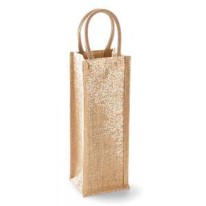 Westford Mill - Shimmer Jute Bottle Bag - WM433