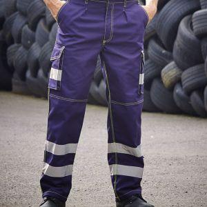 Yoko - Hi-Vis Cargo Trousers with Knee Pad Pockets - YK301