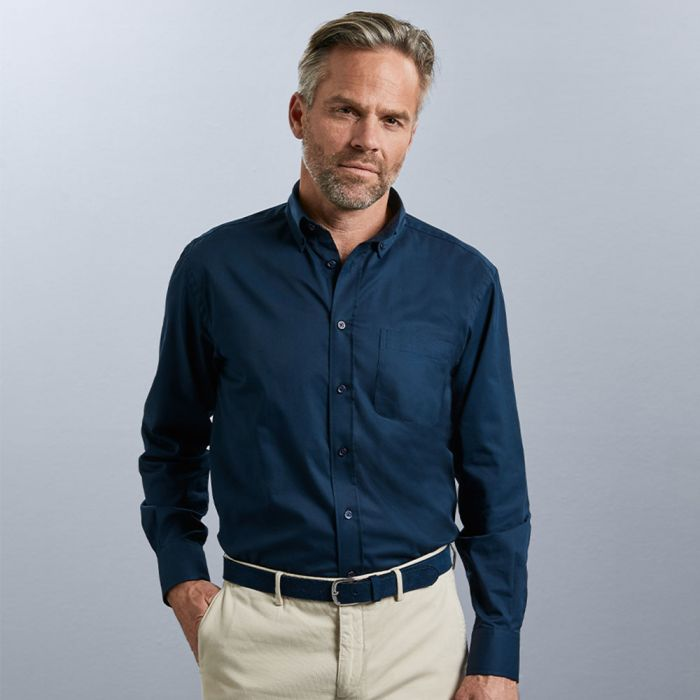 Russell Collection - Men's Long Sleeve Classic Twill Shirt - J916M