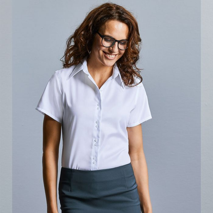 Russell Collection - Women's Short Sleeve Ultimate Non-Iron Shirt - J957F