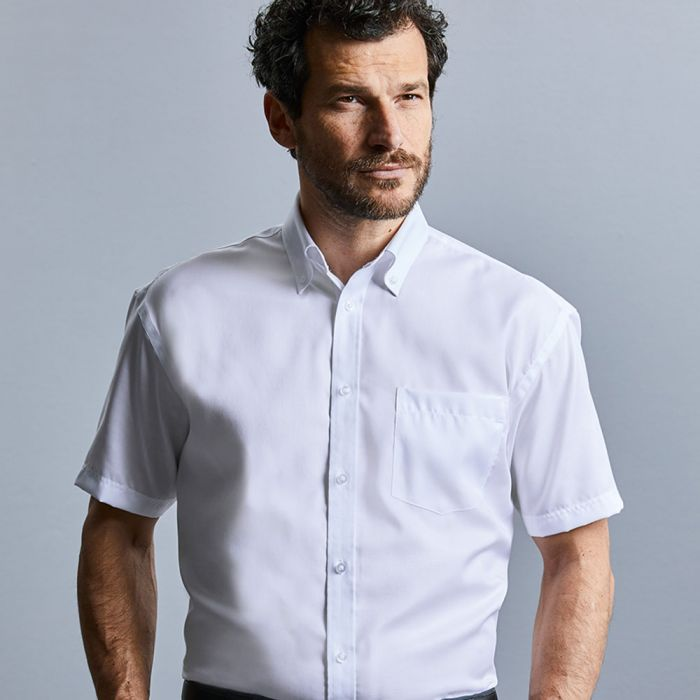 Russell Collection - Men's Short Sleeve Ultimate Non-Iron Shirt - J957M